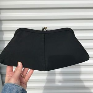 Vintage retro black evening clutch